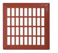 Kratka wentylacyjna 14x14 ceglasta prosta metalowa