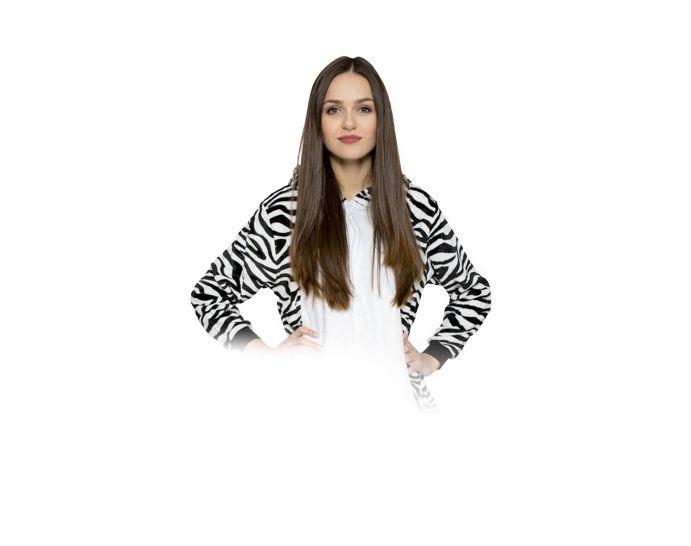 Zebra Kigurumi Onesie dres piżama kombinezon S zdjęcie 1