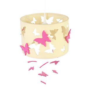 Lampa filcowa motyle ekri różowe dodatki. okazja