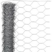Siatka z drutu, sześciokątna 0,5x10 m 25 mm, galwanizowana stal