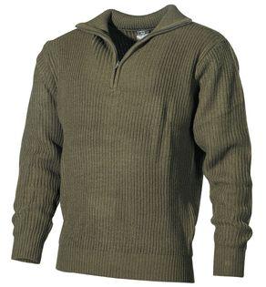 "Sweter ""Troyer"" oliwkowy"
