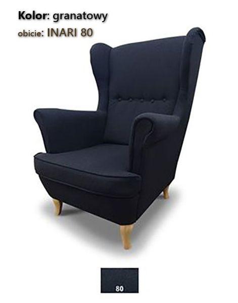 Fotel Uszak Skandynawski - stylowy design zdjęcie 7