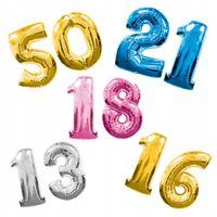 Balon NAPEŁNIONY helem cyfry od 0 do 9 Z HELEM !