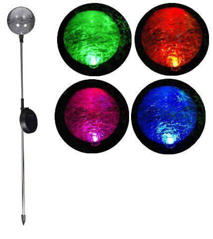 Lampa ogrodowa Garth solarna LED w kształcie kuli (zmienia kolory) D00306 zdjęcie 1