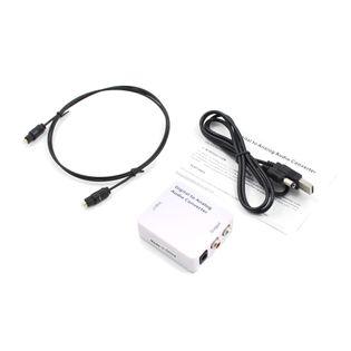 Konwerter optyczny dźwięku Coaxial TOSLINK - RCA 2x CHINCH ANALOG