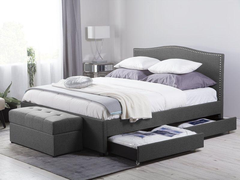 łóżko Rama łóżka Tapicerowane Z Pojemnikiem Ekskluzywne 180x200cm
