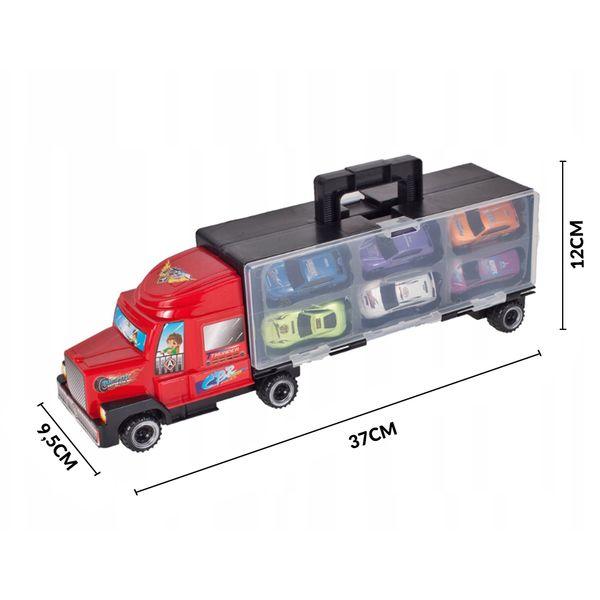 Ciężarówka z walizką z metalowymi autami TIR Y187 zdjęcie 5