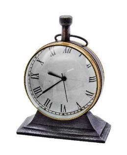 Mosiężny zegar stojący Trophy NI4364. Wykończenie antyk