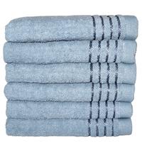 Komplet ręczników kąpielowych 50x100 cm 6szt. (wzór: gładki; jasno-niebieski)