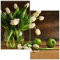 OBRAZ DRUKOWANY  Kremowe tulipany 60x60