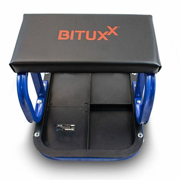 16951 Hoker Taboret warsztatowy bituxx krzesło do garażu jeżdżące na Arena.pl
