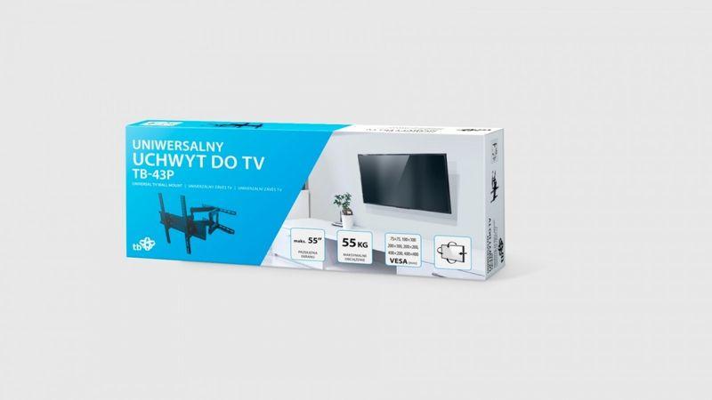 TB Uchwyt TV do telewizora TB-43P 26-55 55kg max VESA 400x400 zdjęcie 3