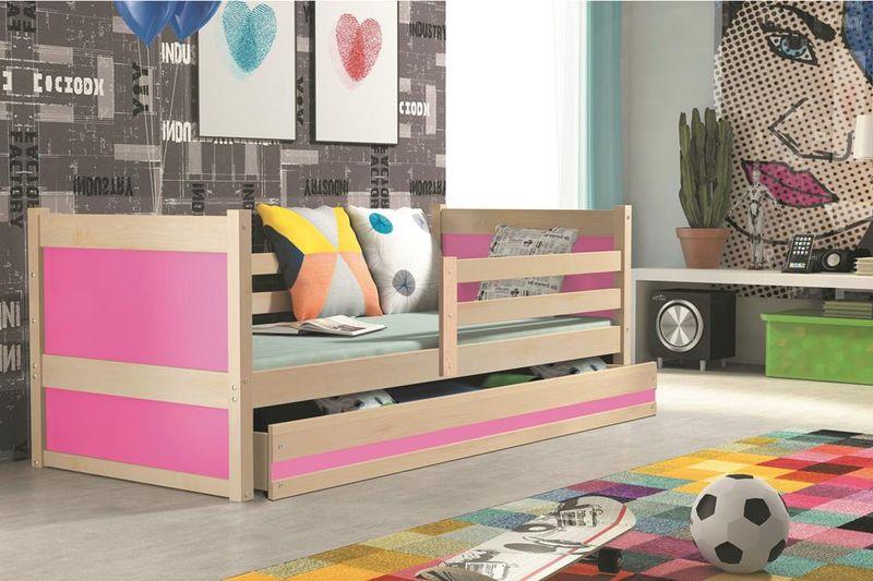 Łóżko RICO dla dzieci pojedyncze dla jednej osoby 190x80 + MATERAC zdjęcie 13