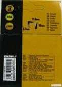 Zszywki Typ J 10mm 1000szt zdjęcie 1