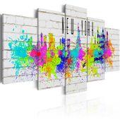 Obraz - Kolorowy Nowy Jork Rozmiar - 100x50