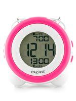 BUDZIK PACIFIC - LCD - 2 ALARMY  Biały | Różowy