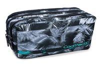 Piórnik szkolny - saszetka trzykomorowa Coolpack Primus Palm Trees Mint, B60004