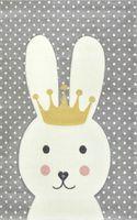 Dywan dla dzieci Diamond Pastel Kids Królik 22414 grey 160x230cm