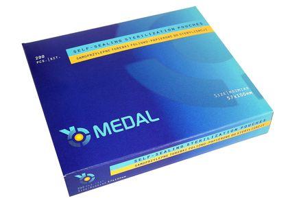 Torebki do sterylizacji 57x100 Medal 200 sztuk