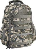 Dwukomorowy plecak szkolny St.Right 30 L, Military Moro BP36