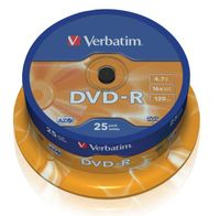 DVD-R Verbatim 16x 4.7GB (Cake 25) MATT SILVER