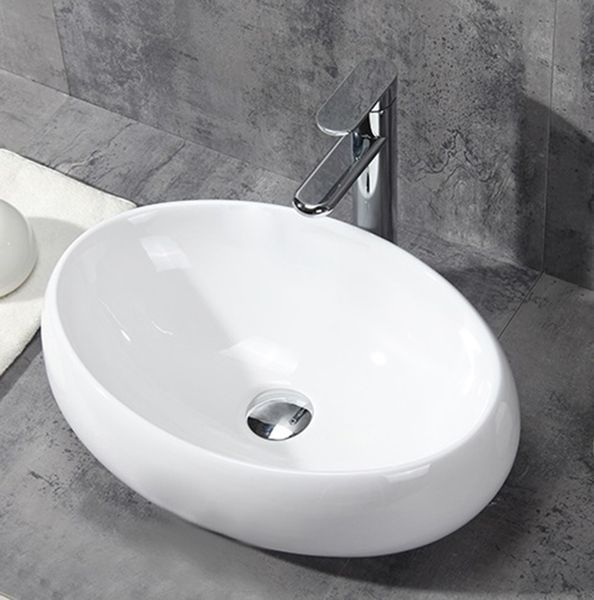 Umywalka Sierra Owalna Nablatowa Biała Arenapl