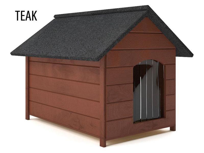 Różne kolory drewniana ocieplana buda dla psa XL solidna 60KG +kurtyna zdjęcie 5