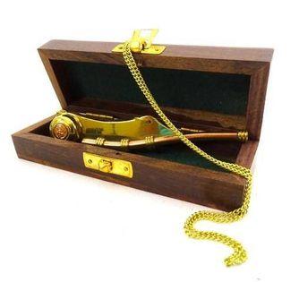 Gwizdek bosmański w pudełku drewnianym MIS-1007