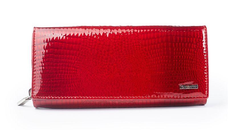 Czerwony skórzany portfel na suwak Zagatto ZG-55288-RS zdjęcie 1