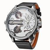 Zegarek męski, Oulm, 5 kolorów, dwa czasy, wodoszczelny, duży i modny zdjęcie 2