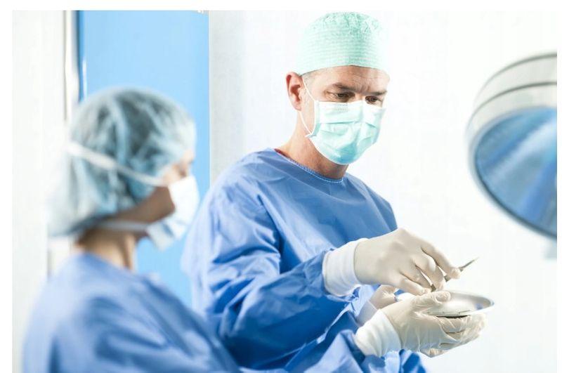 Czepek chirurgiczny z gumkami zielony 100 szt na Arena.pl
