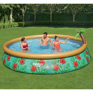 Lumarko Nadmuchiwany basen ogrodowy Fast Set Paradise Palms, 457x84 cm!