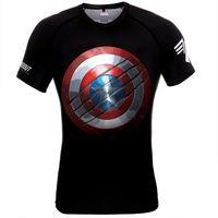 Poundout - Rashguard short Marvel Captain America M