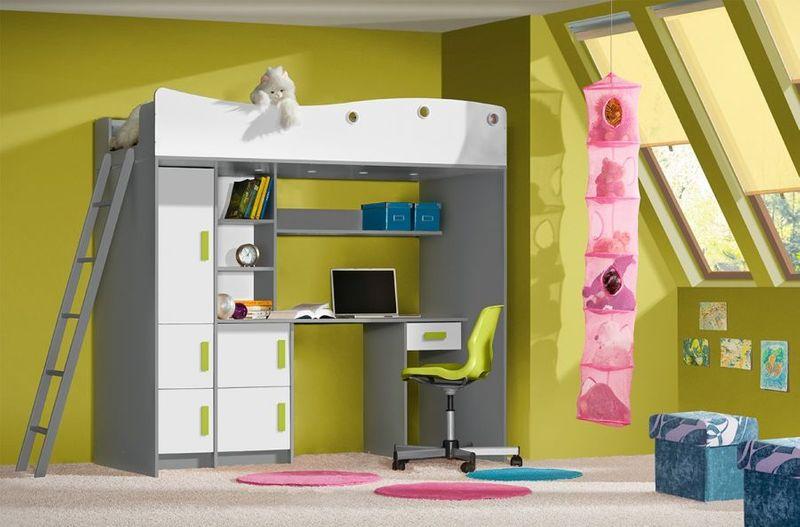 Antresola łóżko piętrowe GIT  - meble młodzieżowe zdjęcie 1