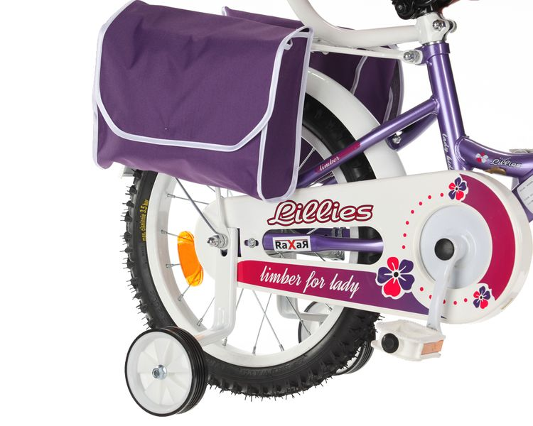 ROWEREK Lillies 16 Limber dla dziewczynki miejski Rower + kosz + sakwy zdjęcie 7
