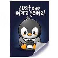 Plakat, Pingwin gracz dla dzieci i młodzieży 40x60