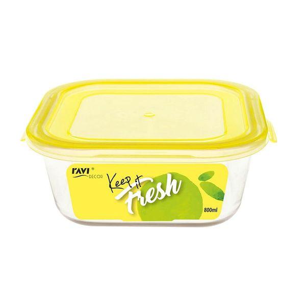 Pojemnik szklany żaroodporny kwadratowy z pokrywką do żywności KEEP IT FRESH 800 ml na Arena.pl