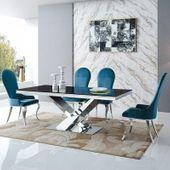Stół glamour Cameron 200x100x75 - blat kamienny
