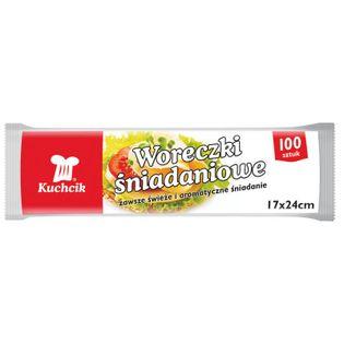 Woreczki śniadaniowe Kuchcik 17x24 100 szt.