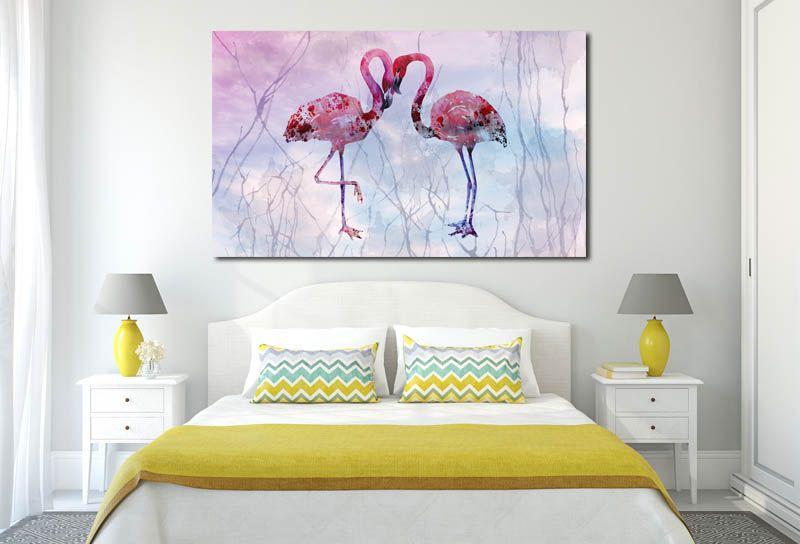 Obraz Flamingi 9 120x70cm Ptak Ptaki Flamingi Arenapl