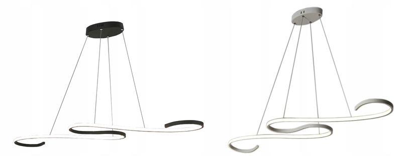 Młodzieńczy Lampa wisząca TWIST nad stół żyrandol Kinkiet LED 40W slim 665499 DL36
