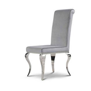 Krzesło glamour Premier Silver - nowoczesne krzesło tapicerowane