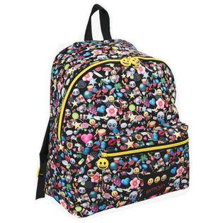 Lekki plecak szkolny w kolorowe emotikony EMOJI