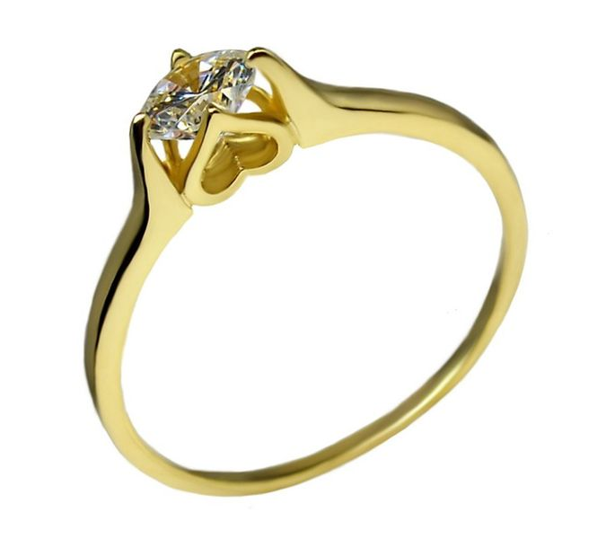 Jubiler Korn Wyjątkowy Złoty Pierścionek Zaręczynowy Super Cena