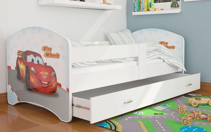 łóżko 160x80 Lucky Szuflada Materac