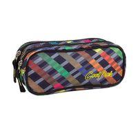 Piórnik szkolny - saszetka Coolpack Clever, Rainbow Stripes 661