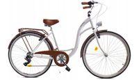 """Rower Dallas City 28"""" 7spd - biały z brązem"""