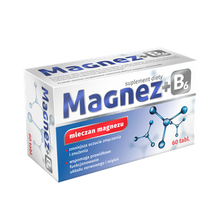 MAGNEZ + B6 mleczan wit. B6 układ nerwowy 60 tabl