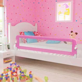Barierka do łóżeczka różowa 180x42cm VidaXL