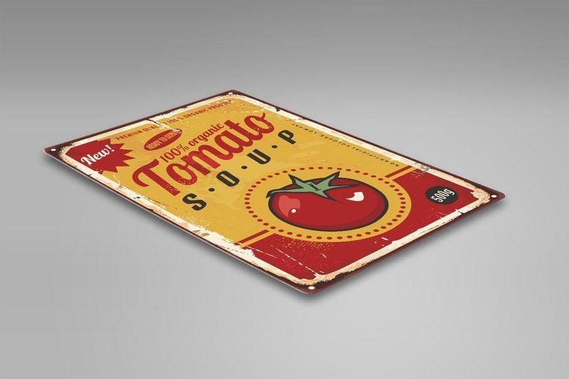 Wydruk na metalu, Retro – pomidorowa 40x60 zdjęcie 2